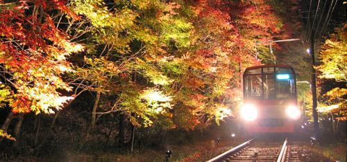 秋之风景:列车穿越京都